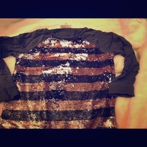 Flipped sequins J Crew pullover sweater